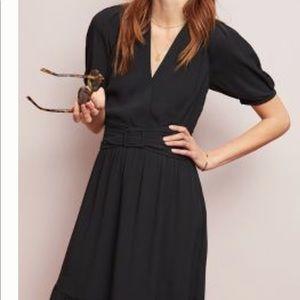Dresses & Skirts - Anthropologie puff sleeve neck dress. 26w. Black